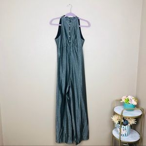 Vintage wide leg metallic jumpsuit